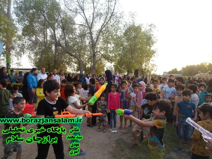 یک روز شاد در برازجان به همت اداره فرهنگی اجتماعی و ورزشی شهرداری برازجان با دومین جشنواره تابستانی اب بازی را برازجانی ها تجربه نمودند