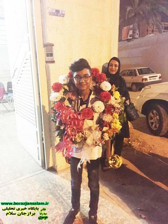 استقبال گسترده از کسب مقام  سوم  جهان در محاسبات  ذهنی  ریاضی در بالاترین  سطح  در شهر برازجان توسط  سید علیرضا  موسوی به روایت تصویر