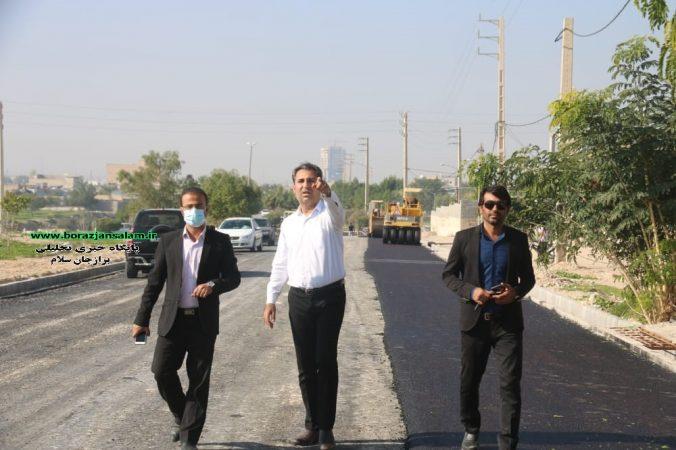 شهردار برازجان درخصوص اجرای پروژه آسفالت خیابان آیتالله مهدوی: خدمتی کوچک در جهت توسعهی متوازن مناطق شرقی برازجان