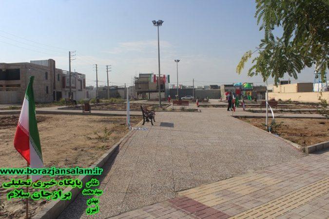 گزارش تصویری افتتاح برنامه های عمرانی شهر برازجان به مناسبت هفته دهه فجر و میز خدمت دهه فجر در مصلی جمعه برازجان