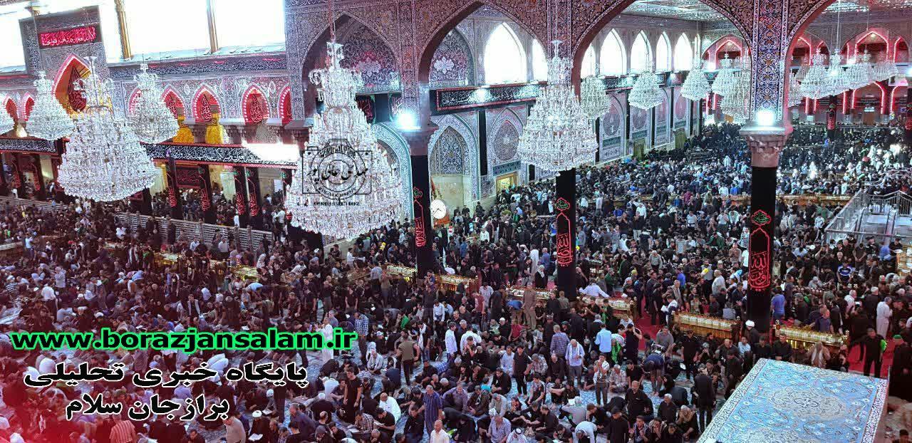 تصاویر حرم امام حسین قسمت (ایوان)  شش روز مانده به اربعین سال ۹۸