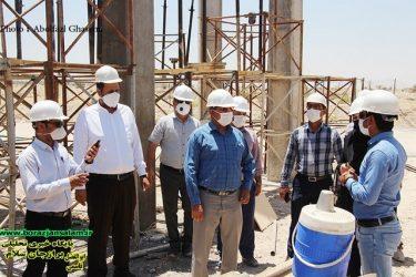 بازدید رییس و تعدادی از اعضای شورای اسلامی شهر برازجان ازروند پیشرفت ساخت مجتمع فرهنگی شهیدحاج قاسم سلیمانی