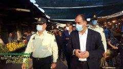 بازدید فرماندار دشتستان از بازار روز شهر برازجان و گفتگو با تاکسی داران