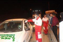 حضور رئیس شورای اسلامی شهر برازجان در محل کنترل ورودی های شهر برازجان
