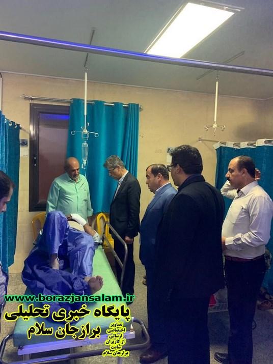 بازدید سرزده نماینده دشتستان از بیمارستان گنجی برازجان