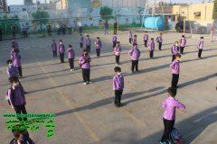 بازگشایی مدارس و زنگ شکوفه های سال جدید با حضور مسئولین شهر برازجان برگزار شد