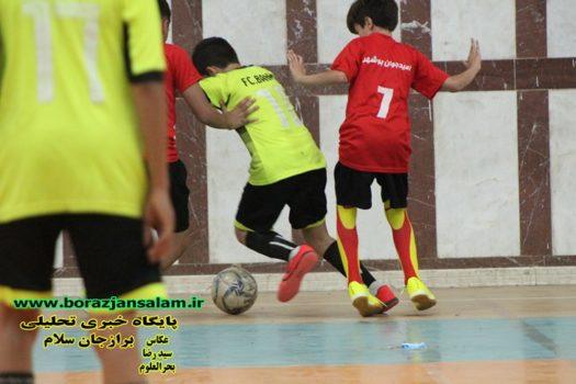 مسابقات گروه اول و چهارم فوتسال نونهالان قهرمان استان به میزبانی شهر برازجان برگزار گردید.