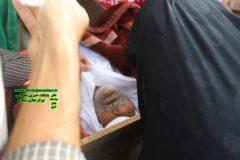 تشییع و خاکسپاری مشهدی اله کرم امانی ، پدر شهید مفقود الاثر حسین امانی به روایت تصویر و فیلم