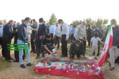 قدران مردم دشتستان برای همراهی در تشییع مشهدی اله کرم امانی پدر شهید حسین امانی هستیم