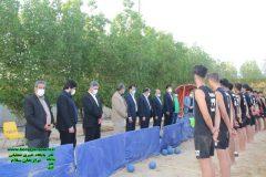بازدید اردوی تیم ملی هندبال ساحلی نوجوانان ایران در برازجان توسط فرماندار دشتستان و هئیت همراه + تصاویر