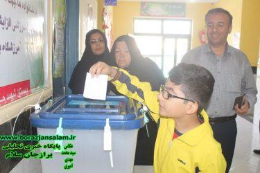 تصاویر مردم برازجان و فرماندار شهرستان دشتستان در صندوق رای حوزه دشتستان