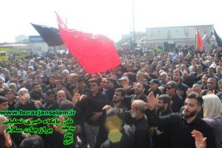 تجمع بزرگ اربعین حسینی در شهر برازجان برگزار شد .