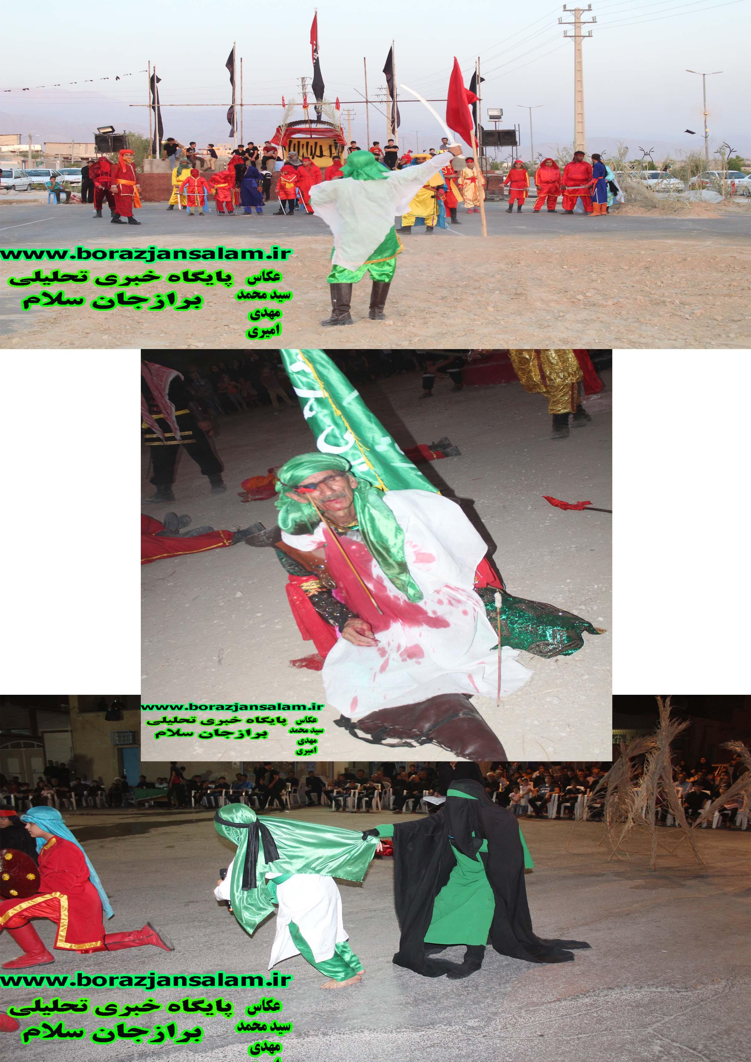 به روایت تصویر سه اجرای تعزیه روز تاسوعا در برازجان