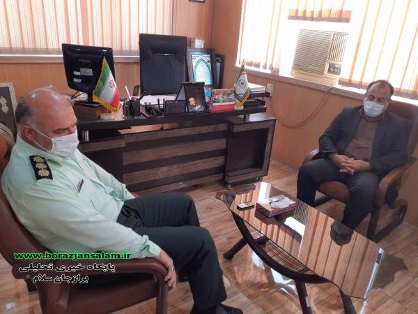 جزئیات و تصاویر دیدار مدیر آموزش و پرورش شهرستان دشتستان به مناسبت هفته نیروی انتظامی با فرمانده نیروی انتظامی شهرستان