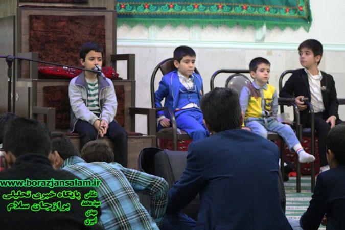 به مناسبت دهه فجر محفل انس با قران کریم با تلاوت نورانی آیات قران کریم توسط قاریان ممتاز و برجسته در مسجد فاطمه زهرا برازجان برگزار شد + تصاویر
