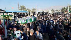 مراسم تشییع و خاکسپاری پیکر پاک بسیجی و جانباز شهید ابراهیم بشارتی به روایت تصویر