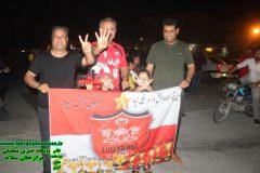 جشن قهرمانی پرسپولیس در شرایط کرونایی در برازجان برگزار شد