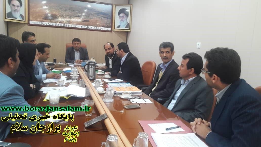 جلسه بررسی بودجه سال ۱۳۹۹ شهرداری برازجان درشورا اسلامی برازجان برگزار شد .