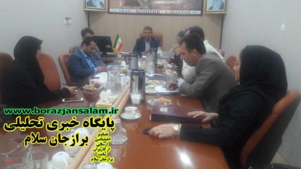 درجلسه امروزشورای اسلامی شهربرازجان اعلام شدهفته آینده دیداربا مردم محله حسین آباد