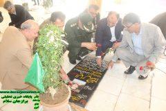 مراسم تجلیل از شهدا به مناسبت هفته دهه فجر توسط مسئولین برازجان برگزار شد + تصاویر