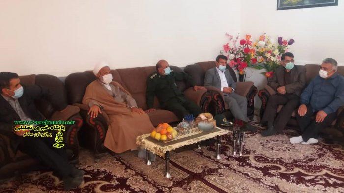 به مناسبت روز جانباز و با رعایت پروتکل های بهداشتی دیدار با خانواده های جانبازان برازجان برگزار شد
