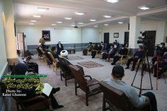 پایان بخش حضور خادمین رضویی در استان بوشهر به شرح تصویر دیدار با حضرت آیت الله صفایی بوشهری