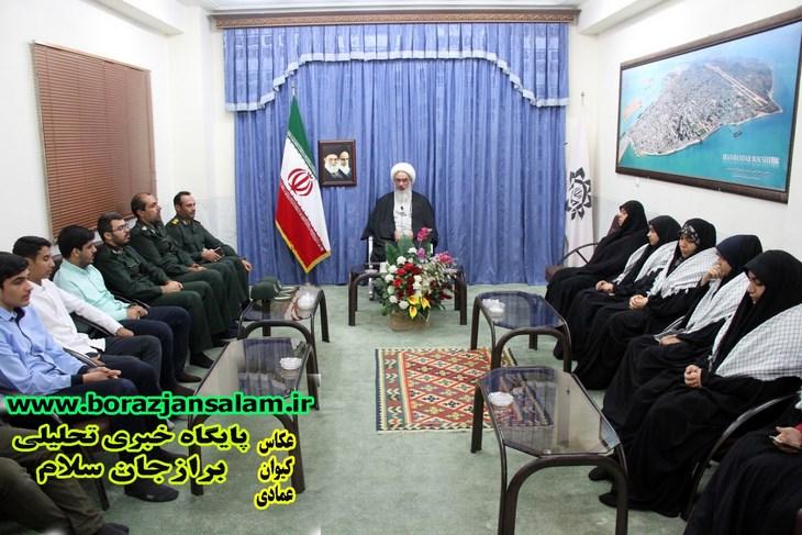 دیدار فرماندهان واحدهای مقاومت دانش آموزی با امام جمعه بوشهر برگزار شد .