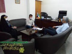 پیگیری مطالبات مردم درمرکز استان و دیدار با سه مدیرکل توسط بنافی رییس شورای اسلامی شهربرازجان