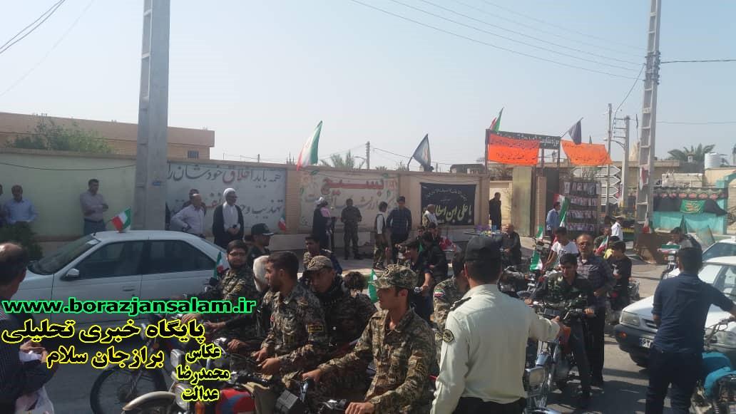 بمناسبت گرامیداشت هشت سال دفاع مقدس ایستگاه صلواتی و رژه موتور سواری توسط بسیجیان پایگاه امیرالمومنین علیه السلام و حوزه شهید بهشتی سعدآباد برگزار شد.