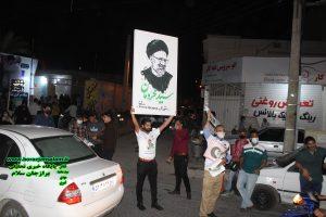 تصاویر و فیلم شب اخر درستاد مرکزی آیت الله رئیسی شورای ائتلاف نیروهای انقلاب دشتستان