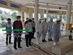 اولین شهید مدافع سلامت استان بوشهر با شرایط خاص کرونایی در بهشت سجاد برازجان به خاک سپرده شد