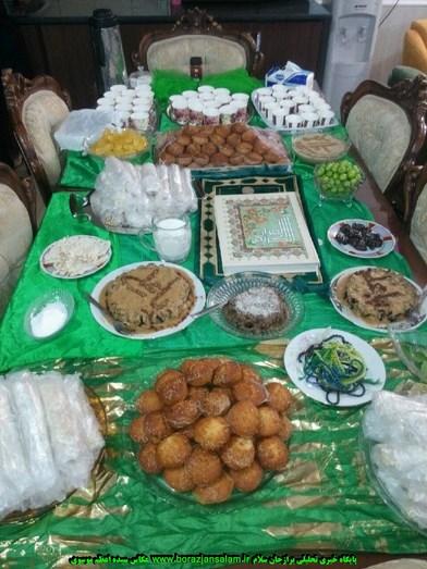 مراسم نوزدهم رمضان همرا با سفره شهادت مظلومانه امام اول حضرت علی( ع ) در منزل سید مهدی موسوی در برازجان برگزار شد + تصاویر اختصاصی