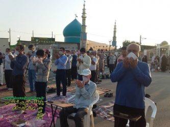 تصاویر برپایی نماز عید سعید فطر برازجان در چهار مسجد
