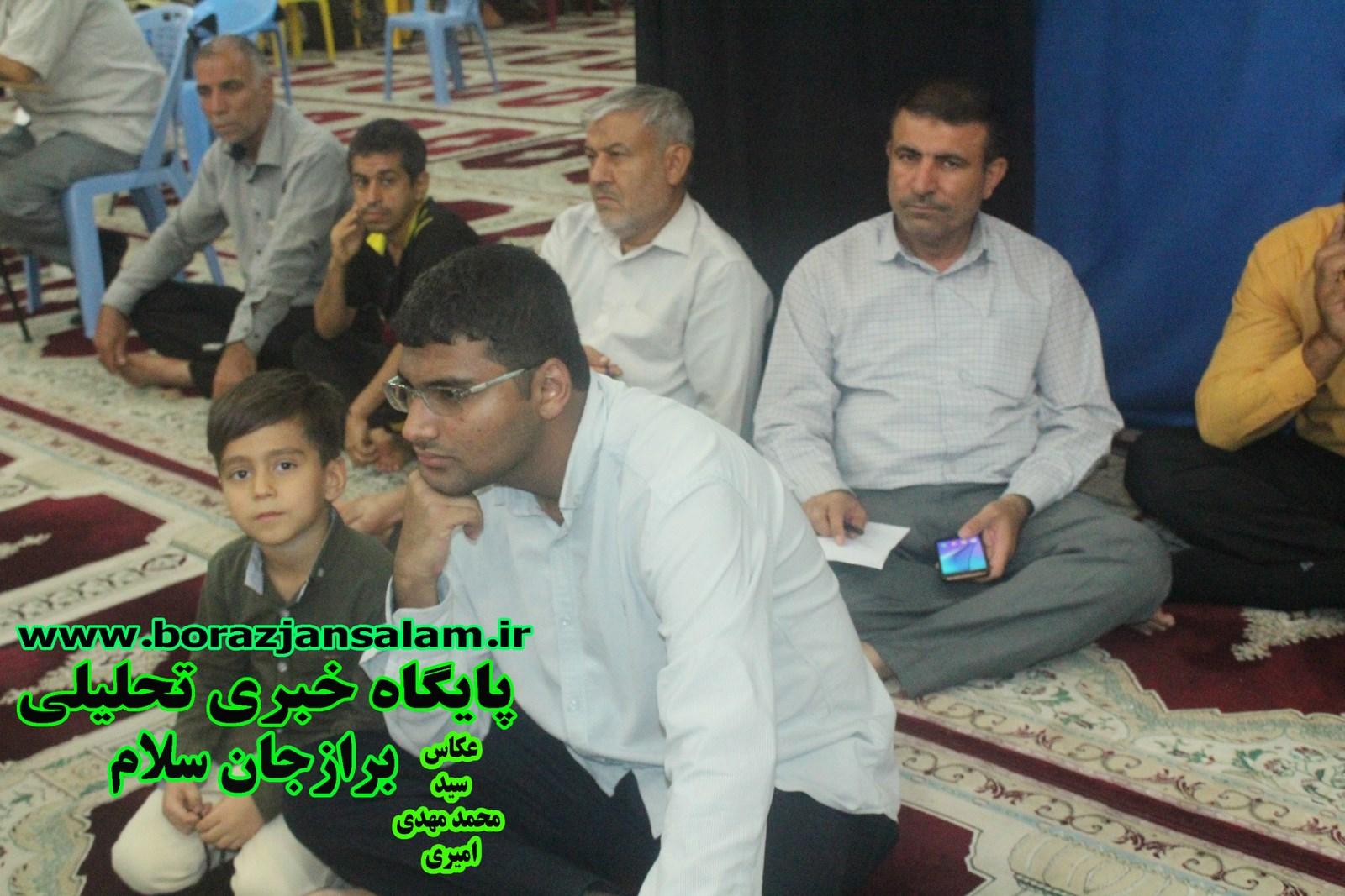 نشست ۱۳ آبان تسخیر لانه جاسوسی امریکا  در  پایگاه مقاومت مسجد امام علی برازجان برگزارشد .
