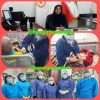 واکسینه شدن سالمندان مرکز محمدیه شهر بوشهر در برابرویروس آنفولانزا توسط پرسنل مرکز بهداشت شهرستان بوشهر
