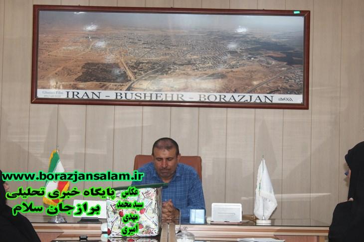 جانباز و ازاده سرفراز وطن شهر برازجان رئیس شورای اسلامی شهر برازجان شد .
