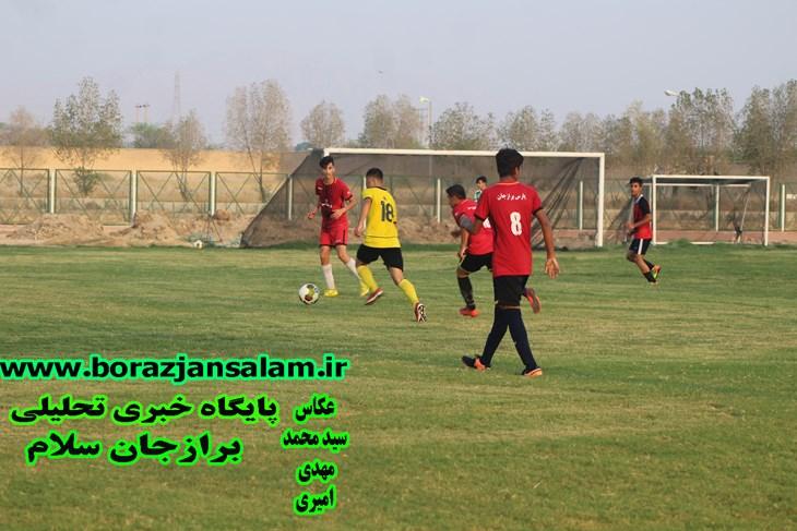تصاویر و نتیجه بازی فوتبال پارس برازجان و پارس جنوبی جم در رده نوجوانان