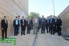 پروژه پلی کلینیک تامین اجتماعی برازجان توسط مسئولین بازدید شد