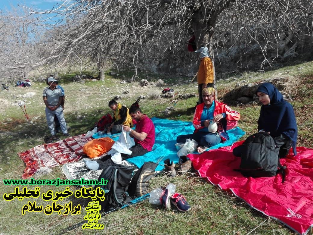 پیمایش مسیر تنگ شیرتوسط کوهنوردان باشگاه سهندبرازجان به مناسبت روز ملی هوای پاک