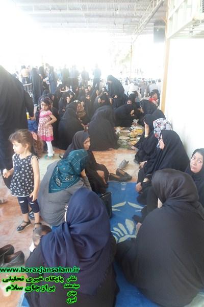 برادران و خواهران برازجان در جوار امامزاده سید محمد به سوک ( فاطمه سیف ابادی ) نشستند