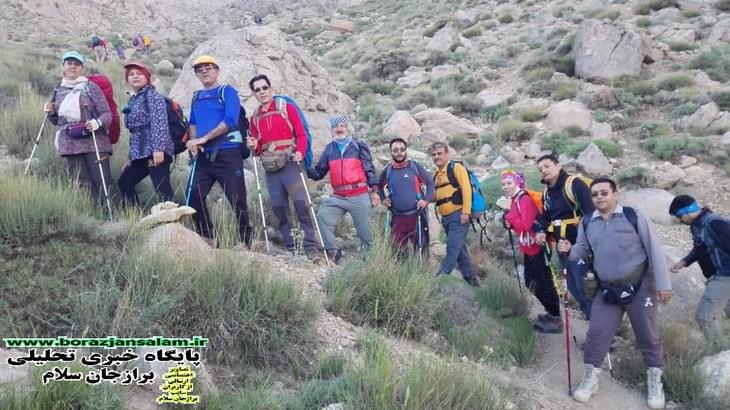 تصاویر صعود باشگاه کوهنوردی سهندبرازجان به قله بل شهرستان اقلید فارس
