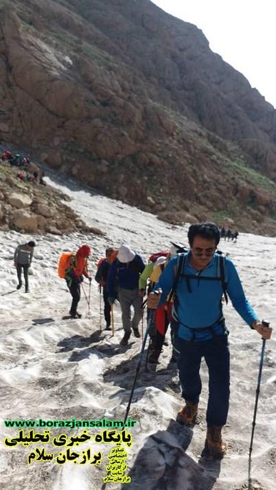 صعود به قله کلونچین ۴۲۲۱مترارتفاع بام استان چهارمحال و بختیاری توسط باشگاه کوهنوردی سهند برازجان  انجام شد