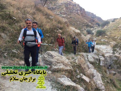 توسط گروه سهند برازجان به مناسبت هفته بسیج در منطقه کوه قلعه برازجان كوهنوردی برگزار شد .