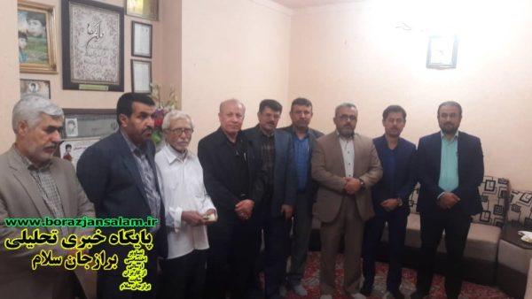 بنافی ریاست شورای شهر برازجان دردیدارهفتگی باخانواده معظم شهدا(شهیدادریسی)شهداسندافتخارنظام اسلامی هستند .