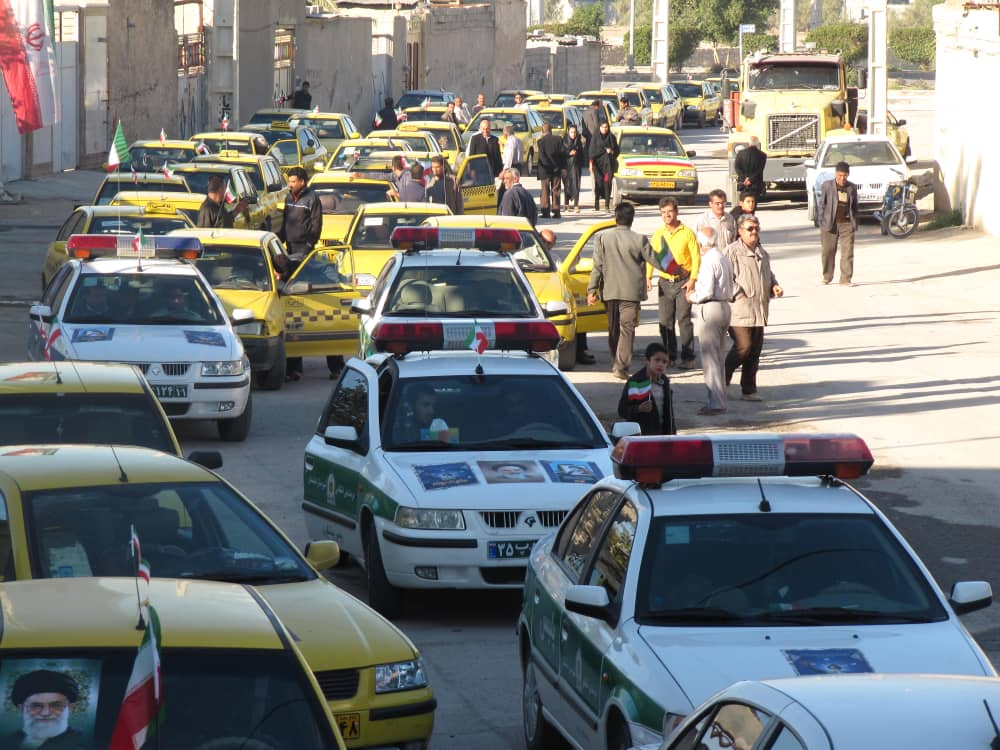 ۱۲ بهمن در برازجان رژه ناوگان تاکسیرانی و خودروهای نظامی برگزار می شود