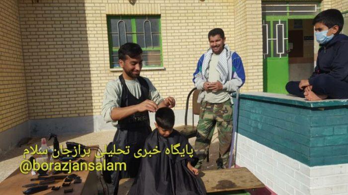 تصاویر گروه جهادی شهید حسین بنافی از پایگاه مقاومت امام روح الله ( ره ) برازجان ، به فرامین رهبر معظم انقلاب ، اردوی جهادی خود را برگزار نمود