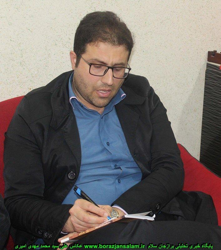 احمدی خرم : برنامه های برازجان و راهکارهایی که ما می توانیم از ضرفیت های رسانه های مکتوب و غیر مکتوب شما استفاده نماییم