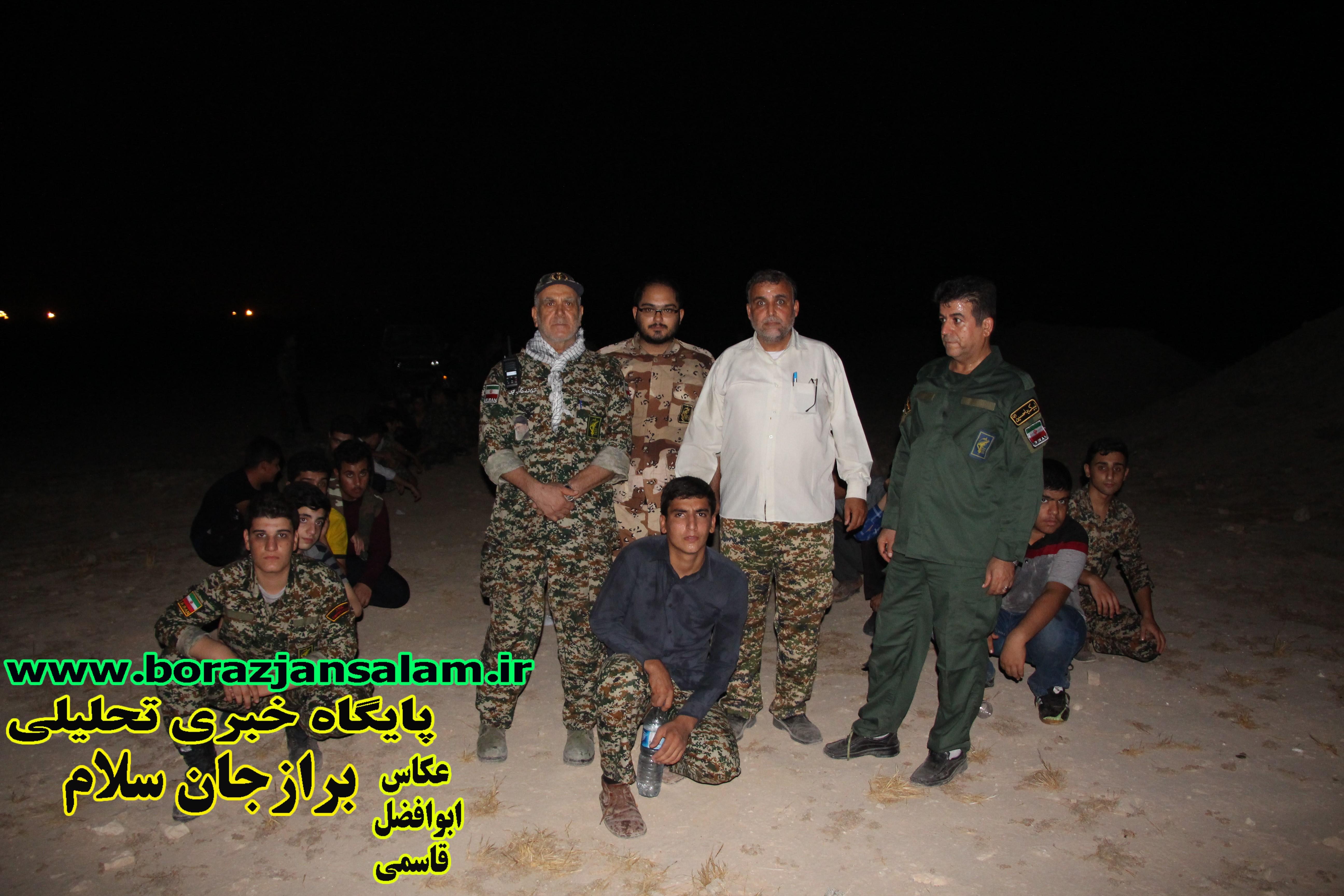 پیاده روی تاکتیکی و آموزش تیراندازی با تفنگ بادی توسط حوزه مقاومت بسیج نجف اشرف برازجان به مناسبت هفته دفاع مقدس برگزار شد .