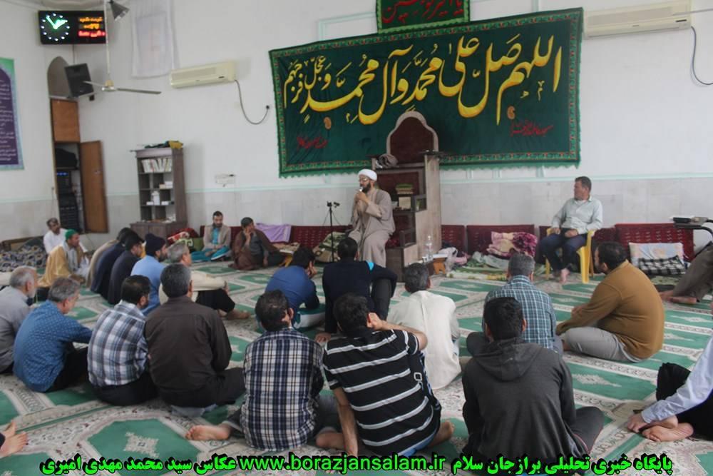 روز دوم اعتگاف برازجان معتکفین و کلاس احکام