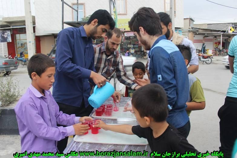 تصاویر ایستگاه صلواتی نیمه شعبان در برازجان به مناسبت روز پاسدار